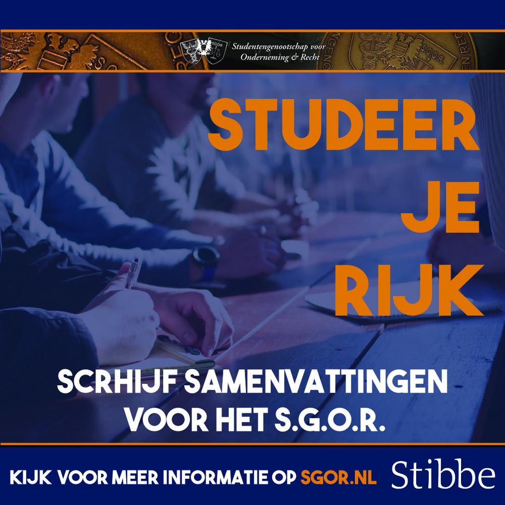 Studeer je rijk!