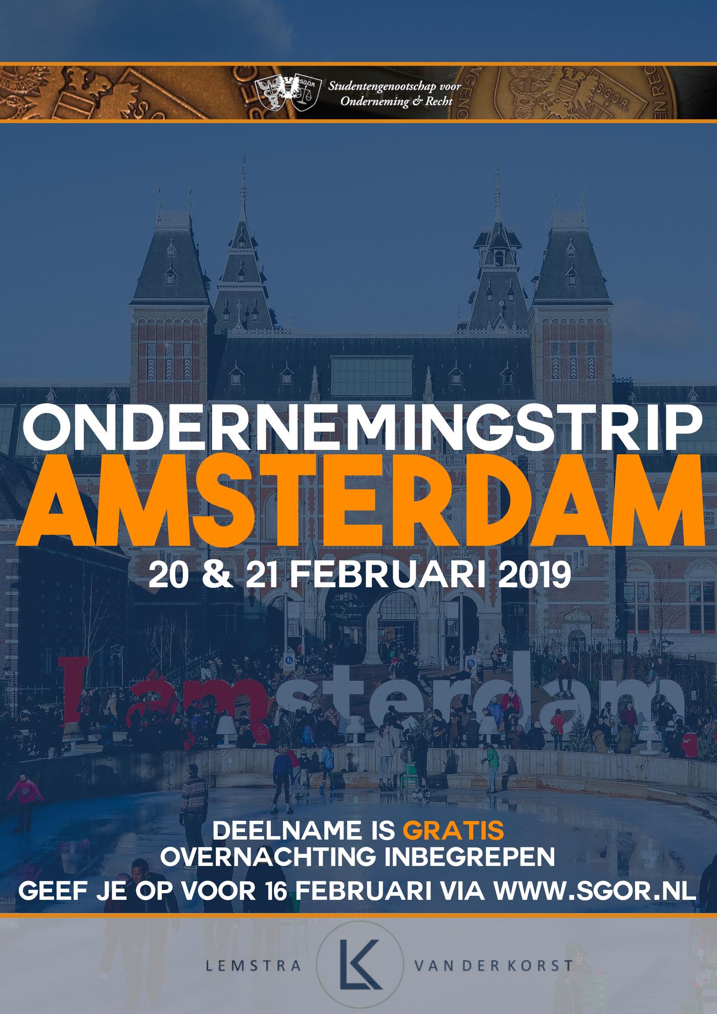 Ondernemingstrip Amsterdam