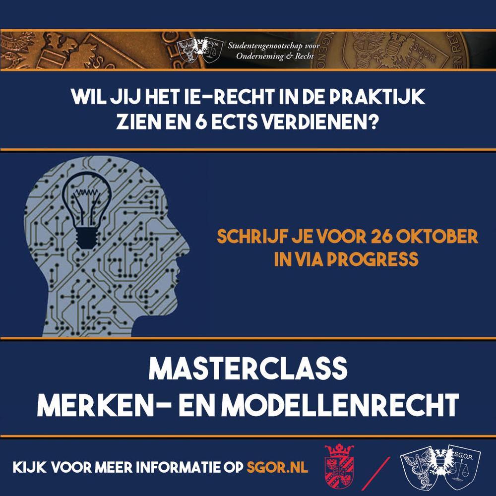 Masterclass Merken- en Modellenrecht inschrijvingen open!